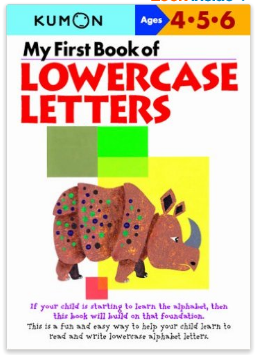Kumon Educational Workbook Lowercase Letters Alphabet