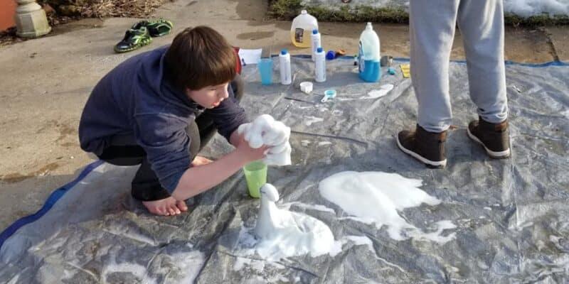 teenage boy elephant toothpaste
