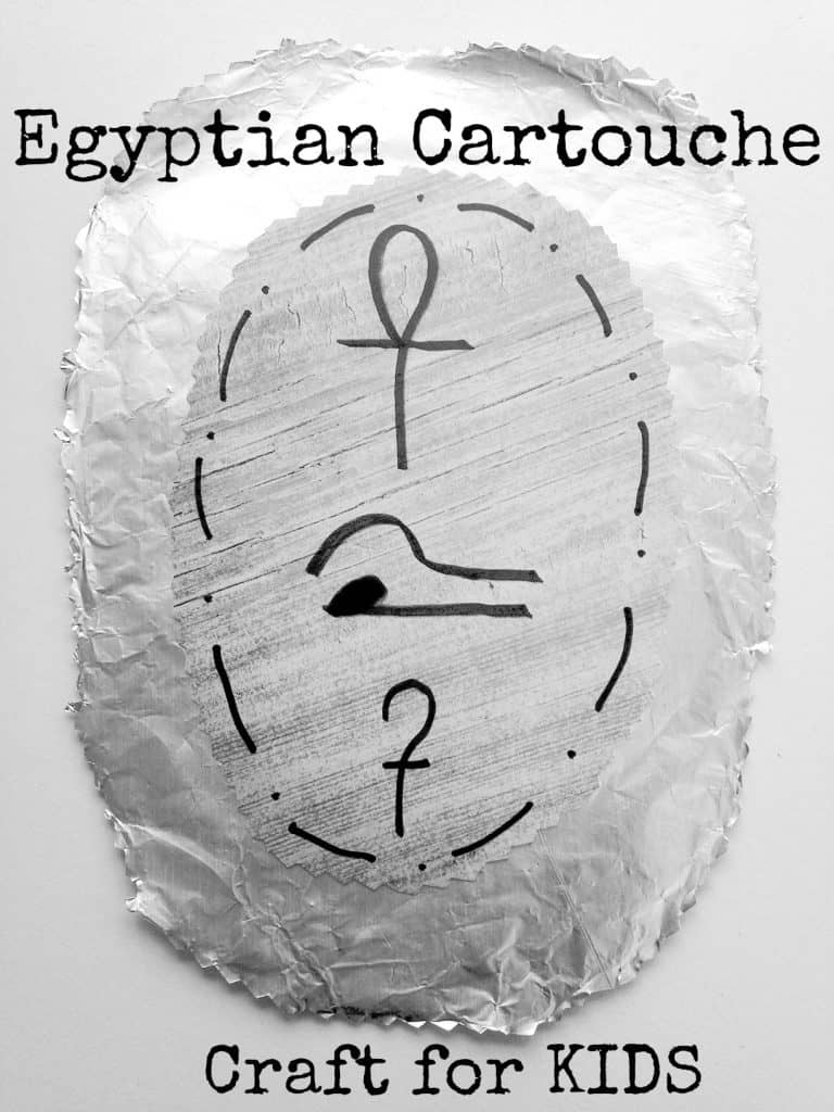 egyptian cartouche craft for kids