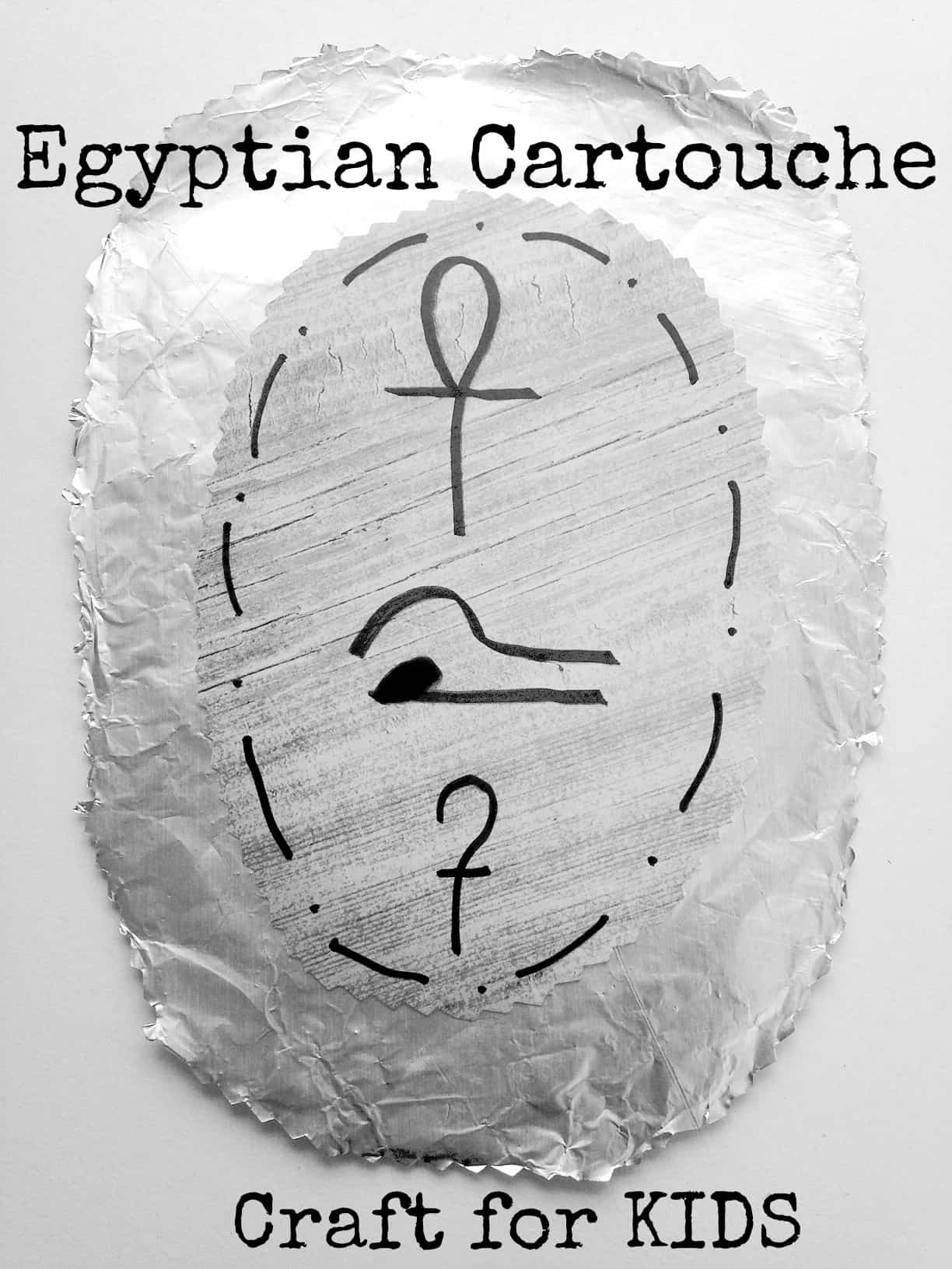 Make Your Own Egyptian Cartouche Craft for Kids