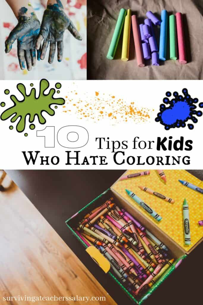 Encouraging Children who hate to color