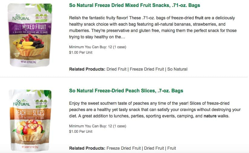 dried fruit deal at dollar tree