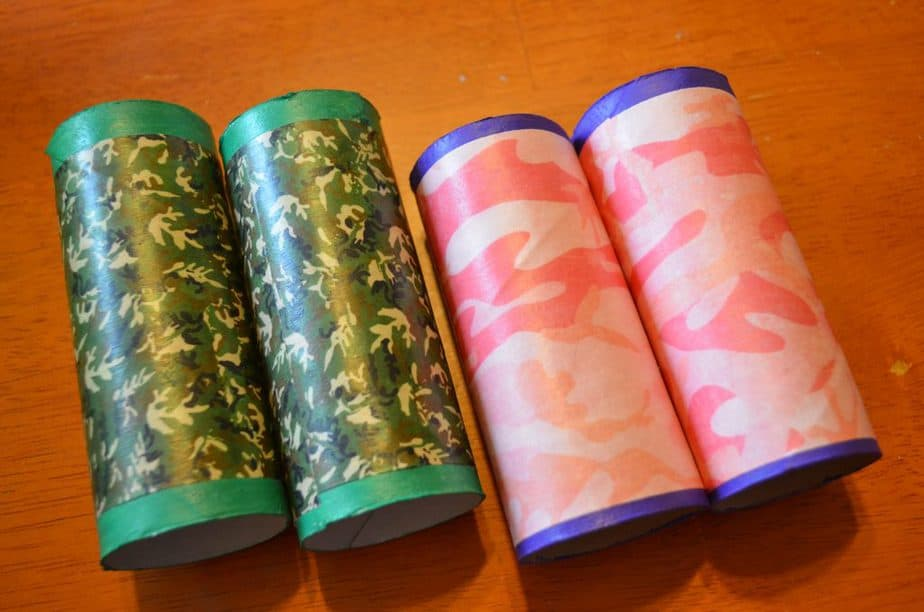 DIY Camo Toilet Paper Tube Binoculars
