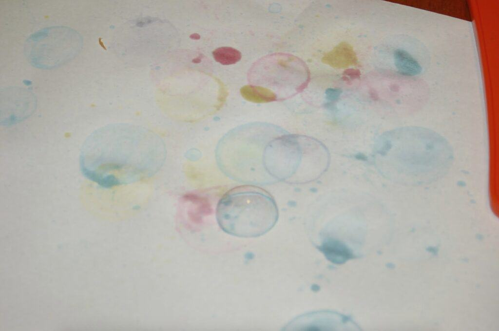 Colorful Bubble Art Sensory Activity for Kids