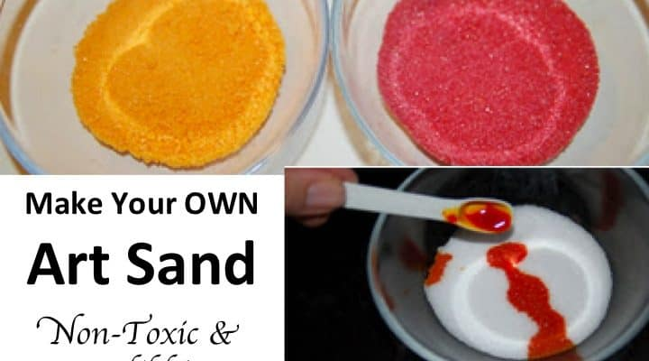 How to Make Your Own Art Sand – Non-Toxic Edible
