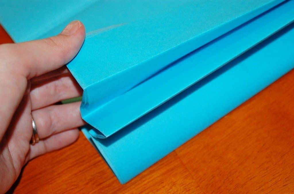 folded tissue paper for truffula tree