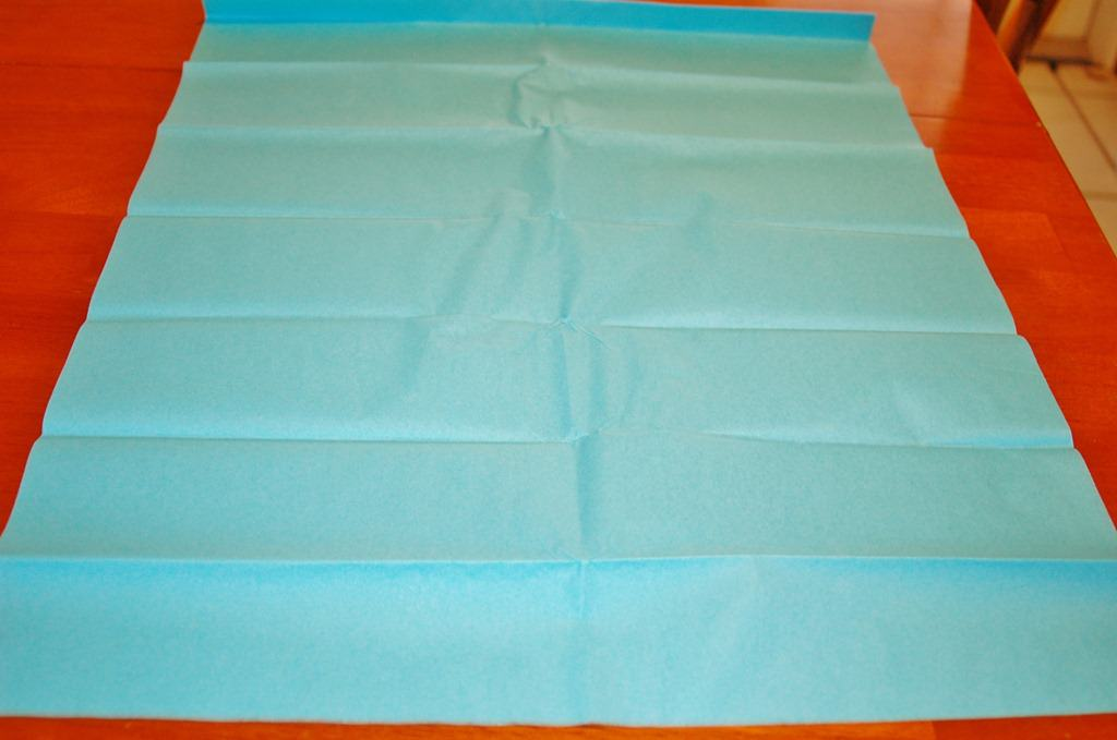 blue tissue paper for diy truffula tree