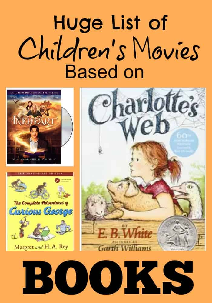 collection of children's movies based on books