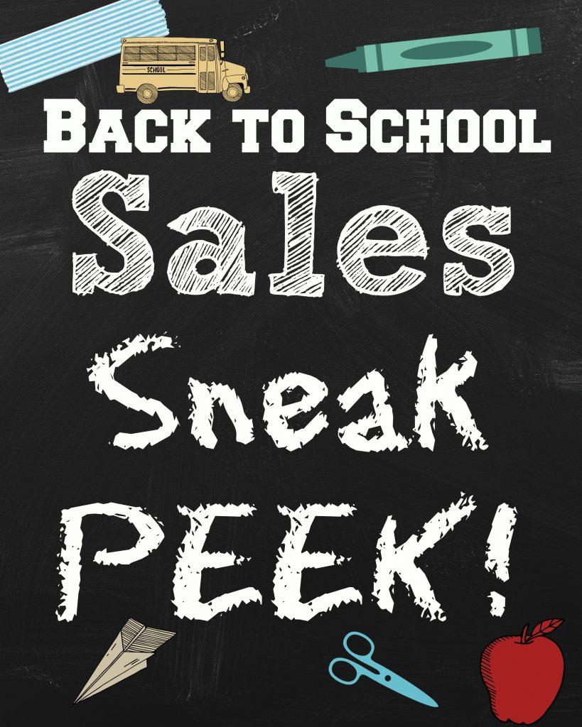 back to school sales sneak peek