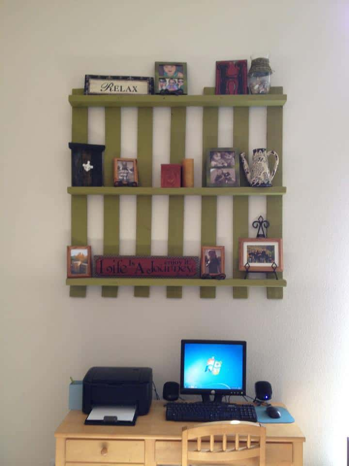 wood pallet home decor shelf