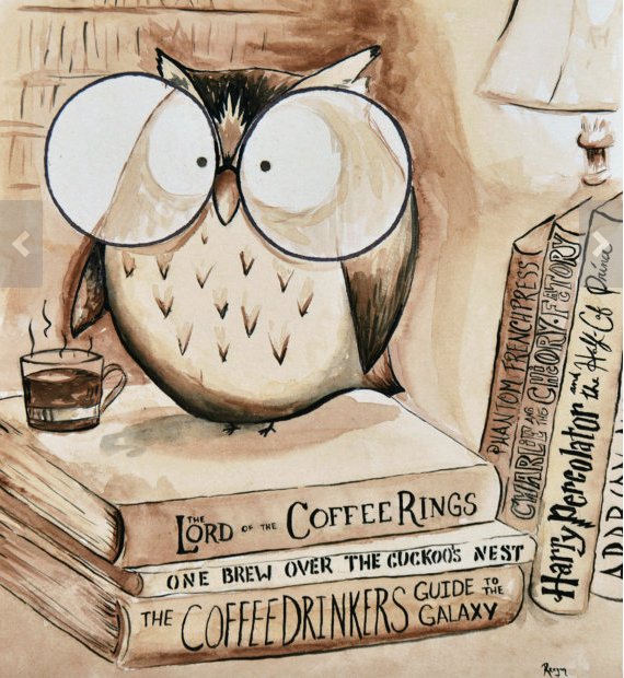 Owl Watercolor custom print on etsy
