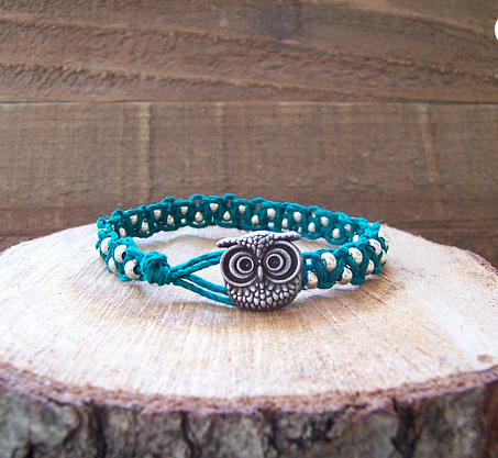 Owl Teal Bracelet Jewelry