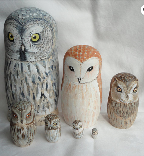 Owl Nesting Dolls on Etsy