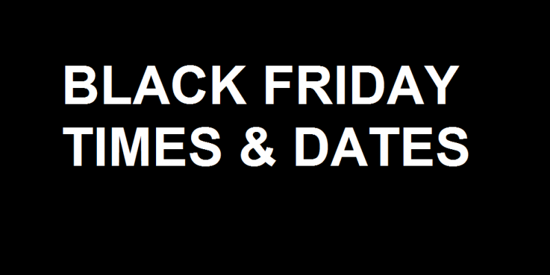 What Times & What Stores are Open for Thanksgiving & Black Friday Sales