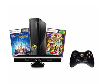 Xbox 360 4GB Kinect Bundle w/ Kinect Adventures & Disneyland