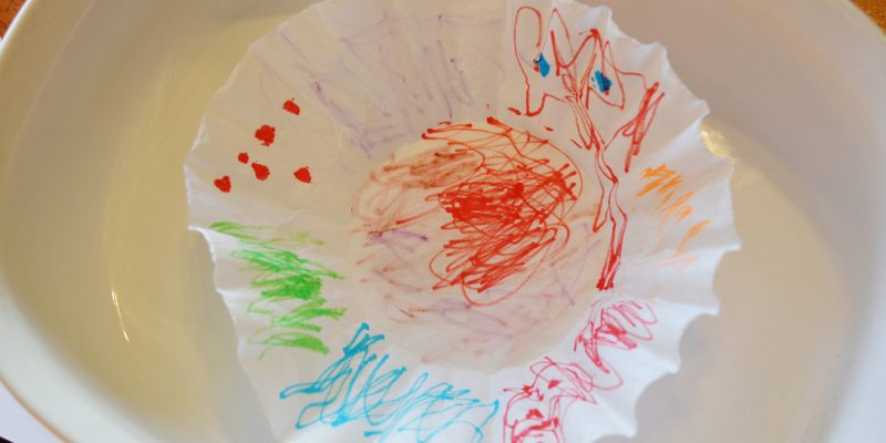 Tie Dye Coffee Filter Craft for Kids