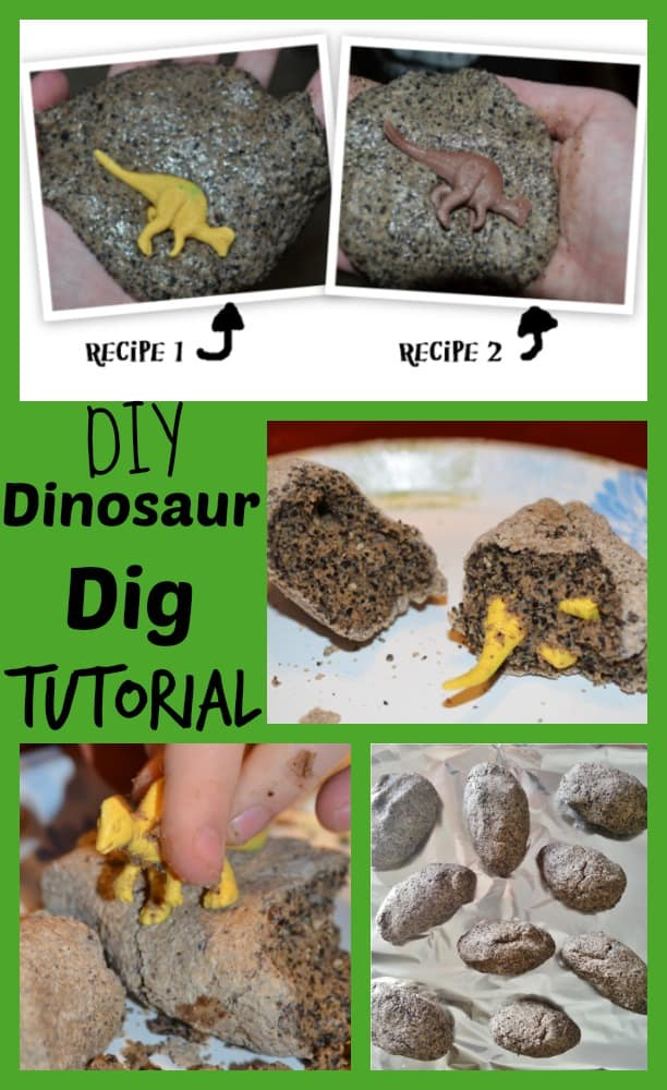 how to dinosaur dig tutorial photos