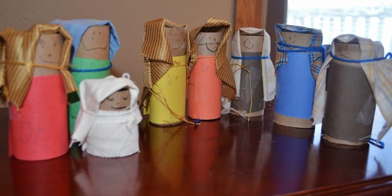 Recycled Toilet Paper Tube Nativity Craft