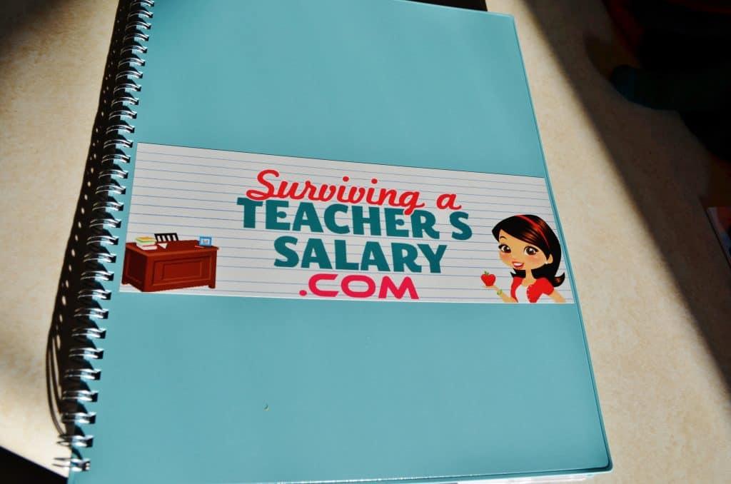 money saving blog, teacher's salary, surviving a teacher's salary, mommy blog, calendar, planner, organization notebook