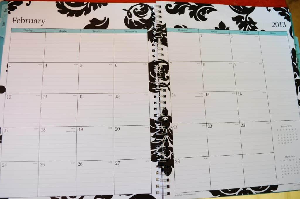 calendar, planner, organization notebook