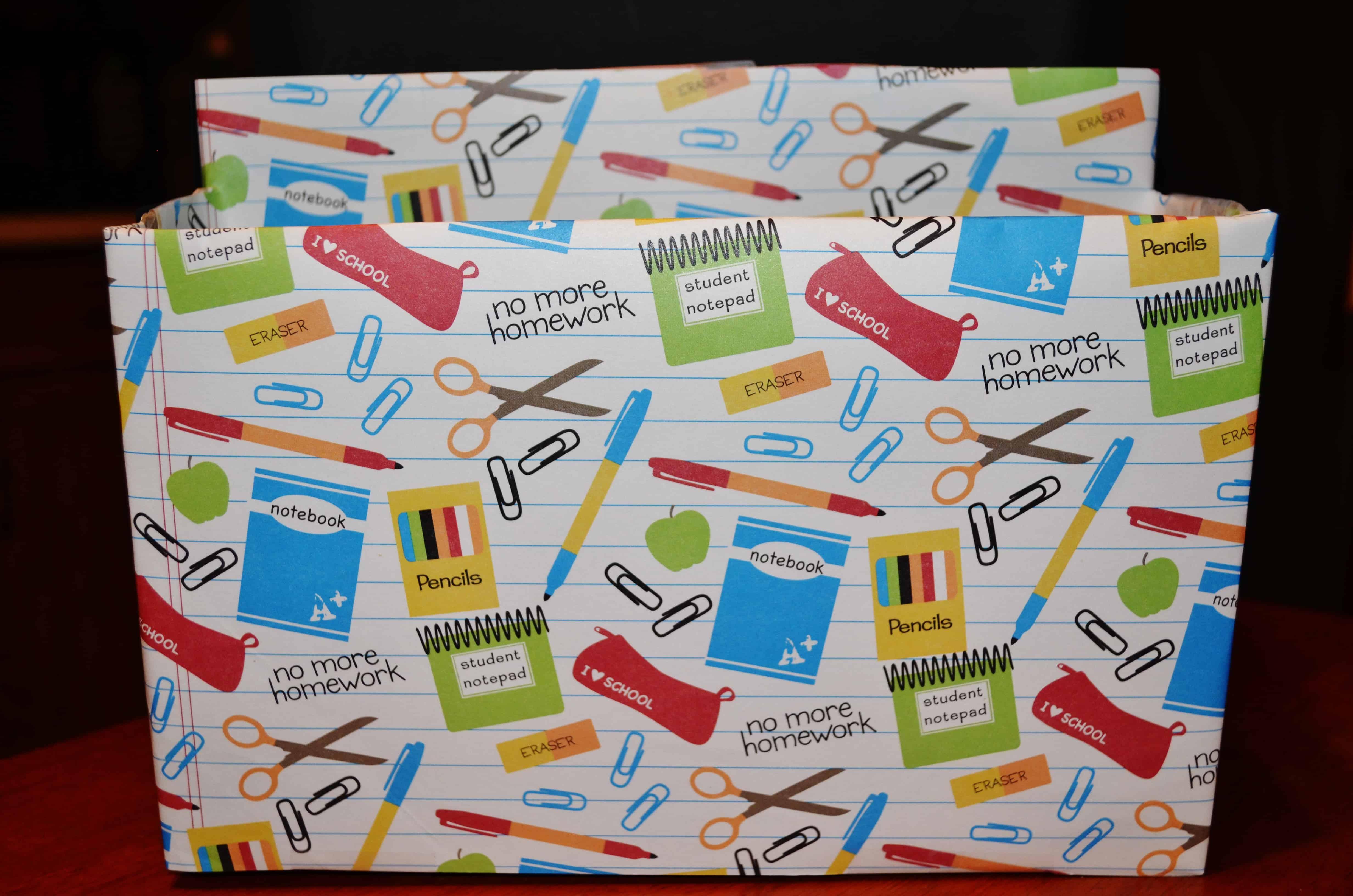 Diy stylish recycled organizer box from cereal boxes diy storage teacher organizer box ccuart Gallery