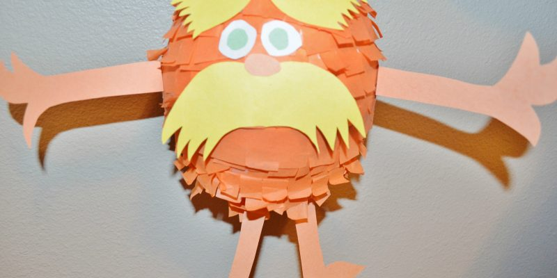 DIY Dr Seuss the Lorax Pinata tutorial