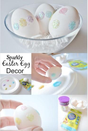 DIY Glitter Easter Egg Home Decor