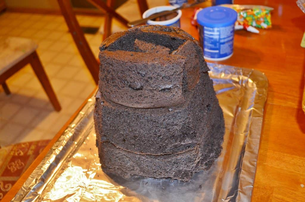 plain chocolate volcano cake tutorial