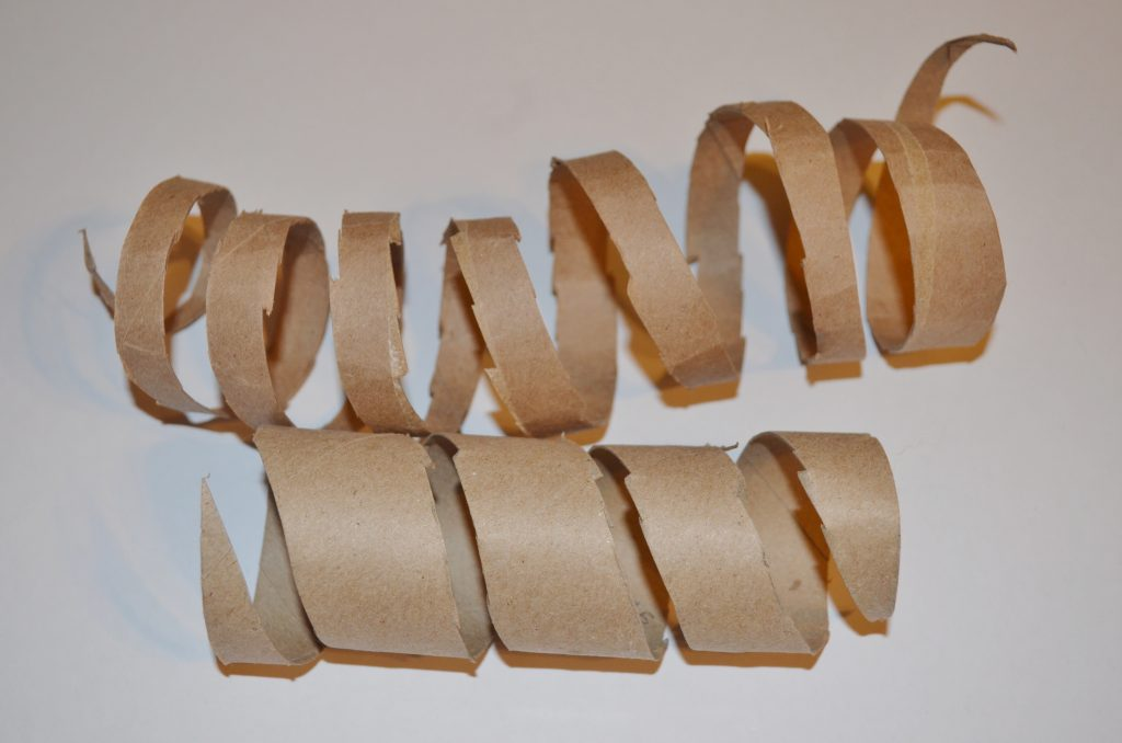 recycled toilet paper tube snake craft