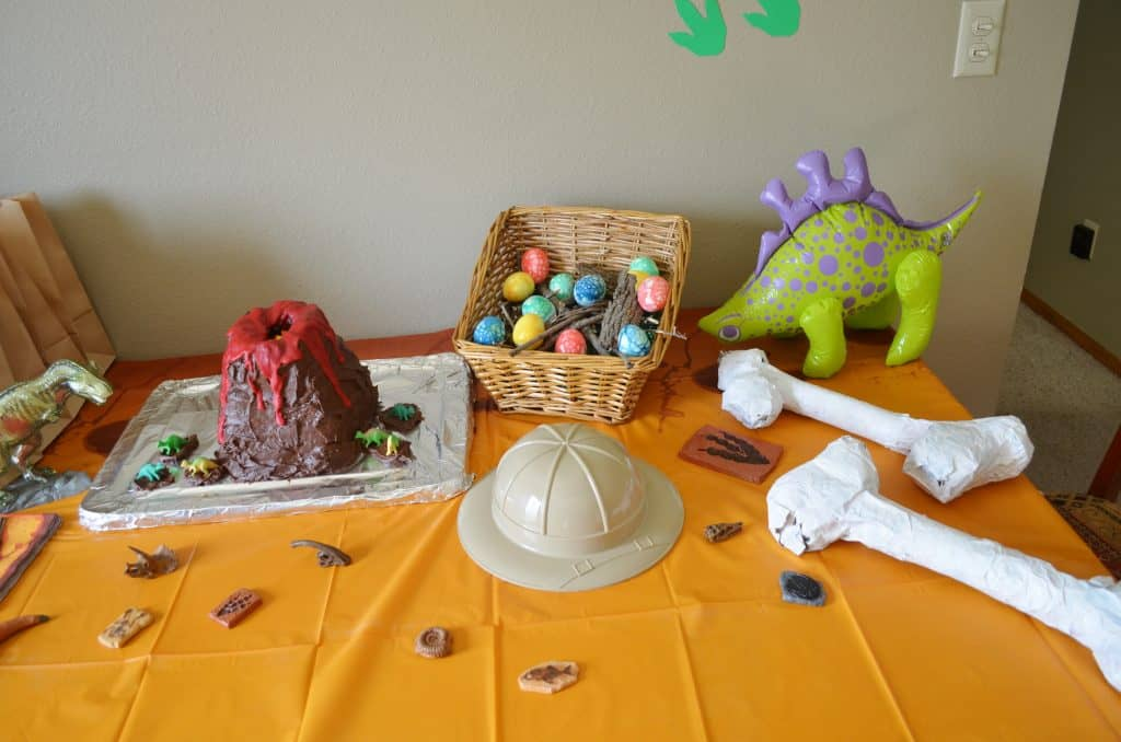 fossil & dinosaur birthday party