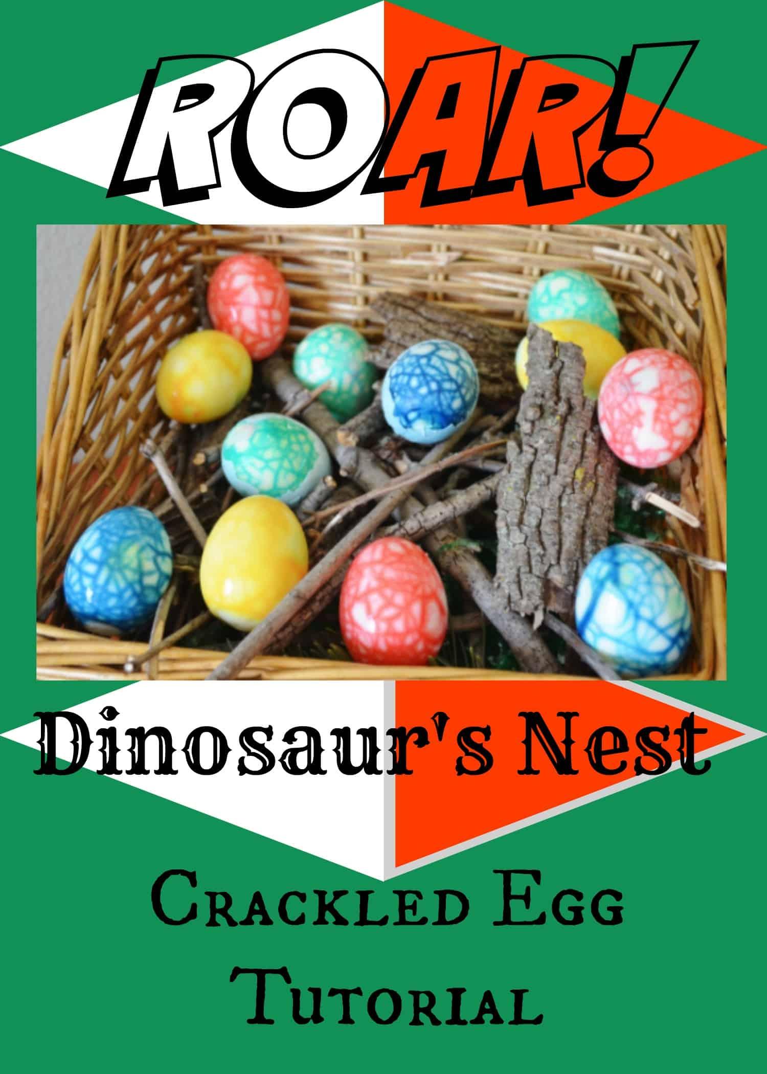 Dinosaur Party Nest Egg Tutorial