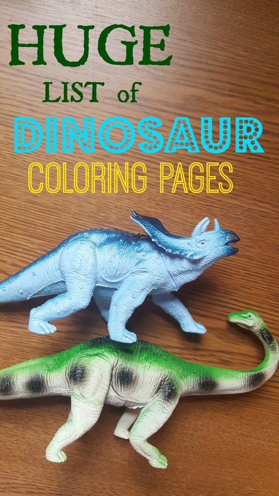HUGE List of Dinosaur Coloring Pages for Kids