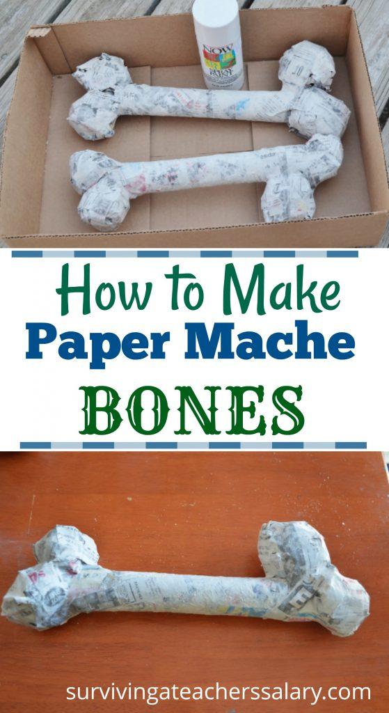 paper mache bones tutorial