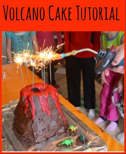 Volcano and dinosaur Cake Tutorial