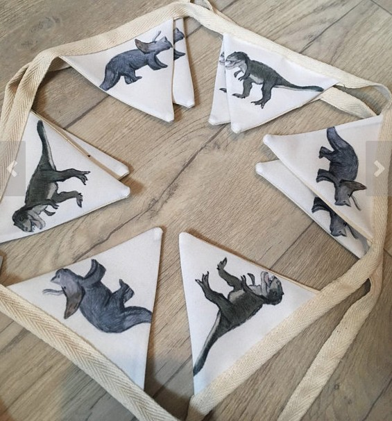 dinosaur party banner on etsy