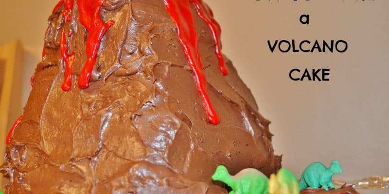 How to Make a Volcano Cake for a Dinosaur Party