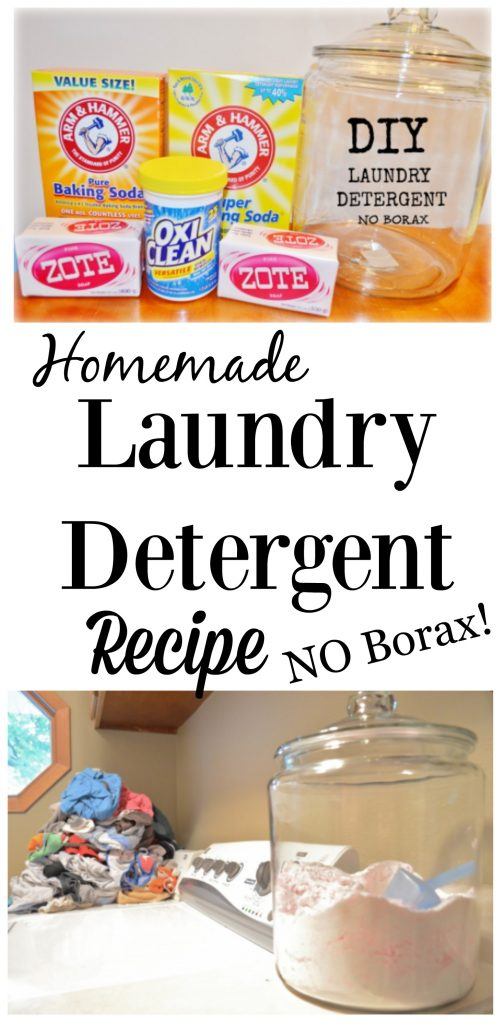 DIY Homemade Laundry Detergent - NO Borax