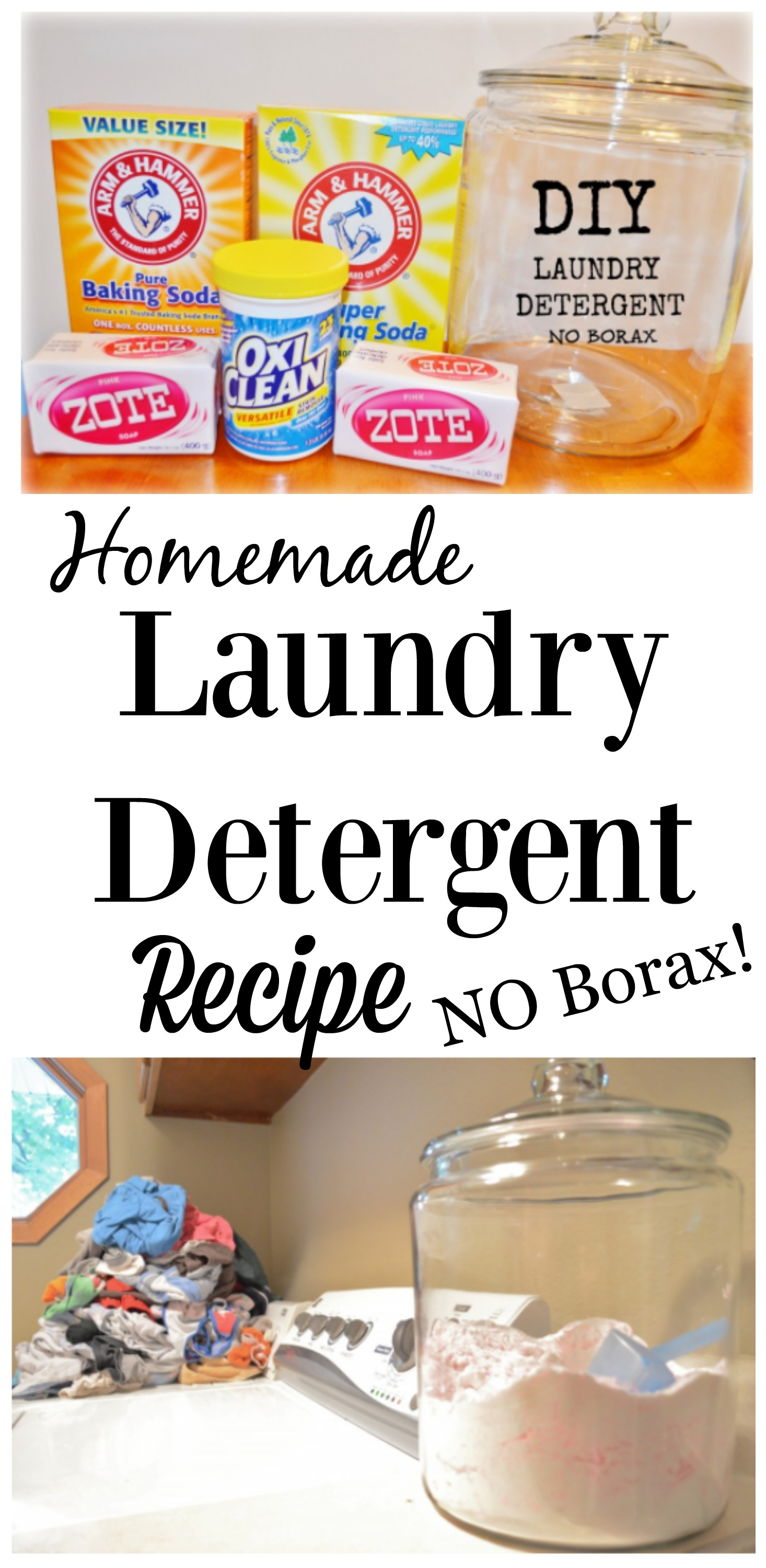 DIY Homemade Laundry Detergent Recipe