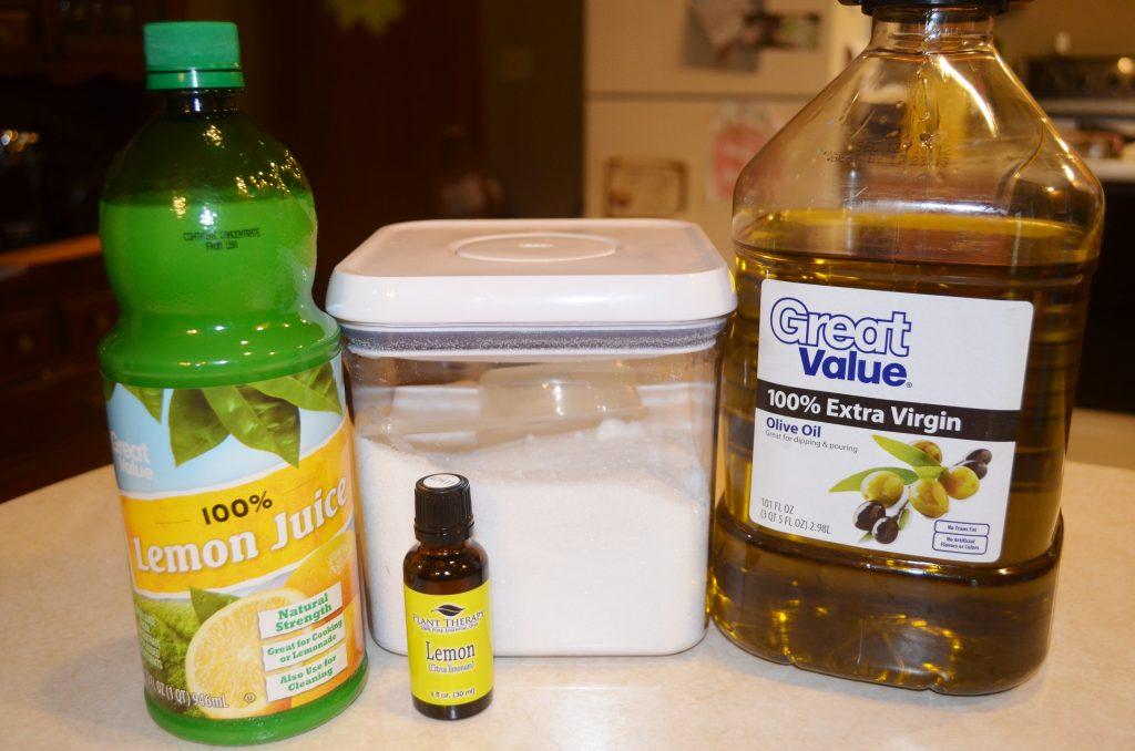 DIY Homemade Natural Lemon Sugar Scrub