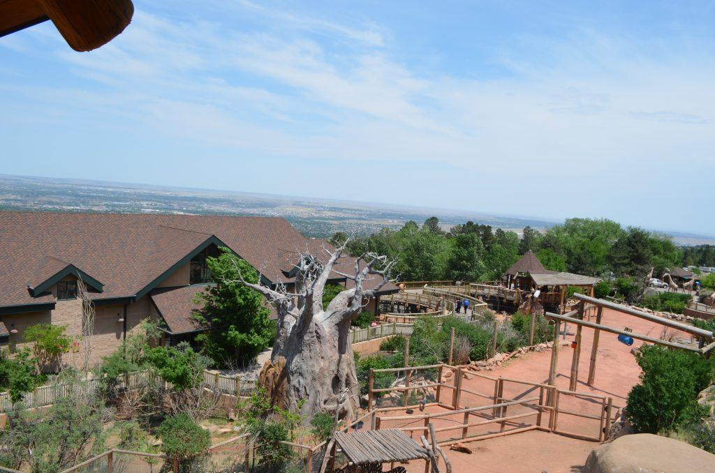 scenic overlook of Cheyenne Mountain Zoo Colorado