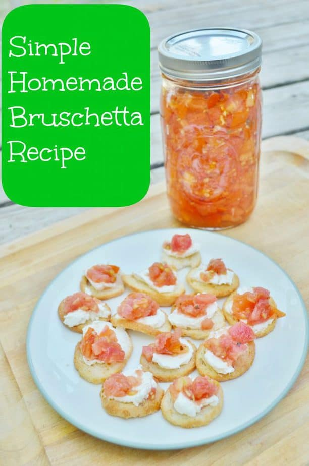Homemade Fresh Bruschetta Recipe