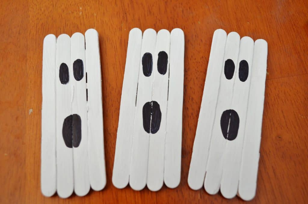 halloween stick ghost craft