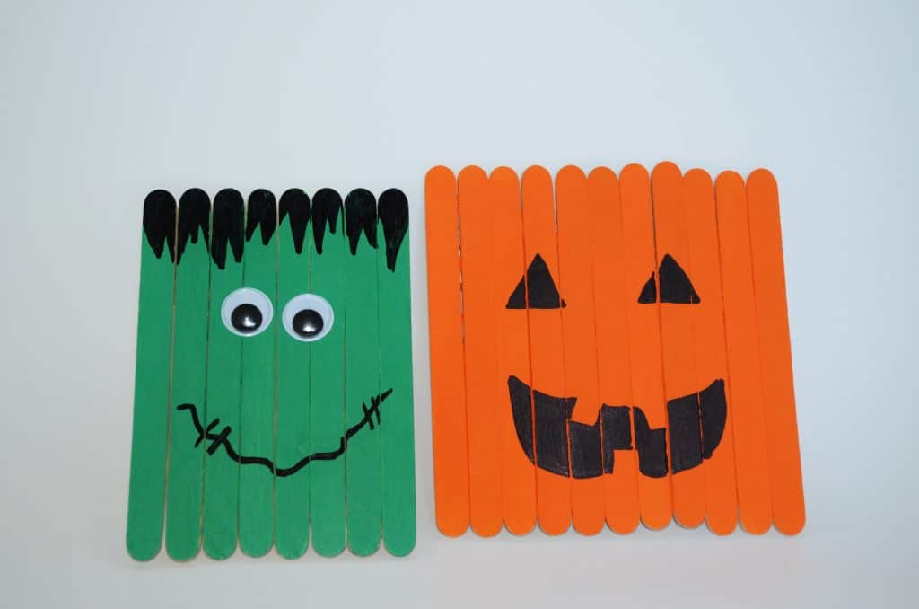 halloween stick friendly frankenstein craft