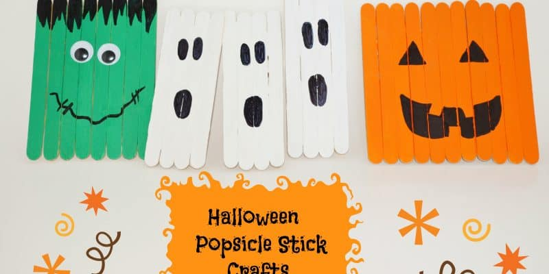 Halloween Decor Kid's Popsicle Stick Crafts