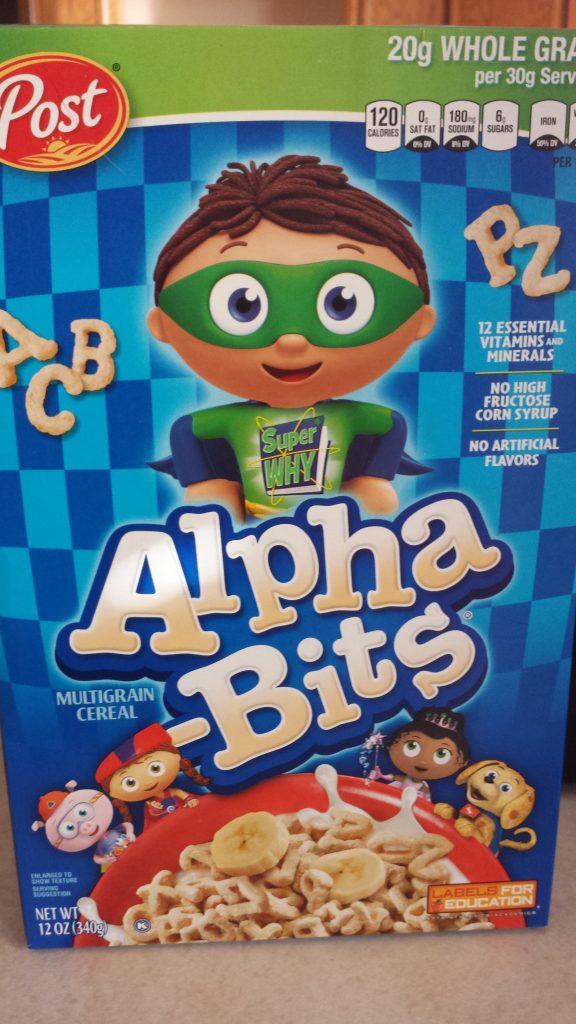 Alpha Bits Cereal for Kids
