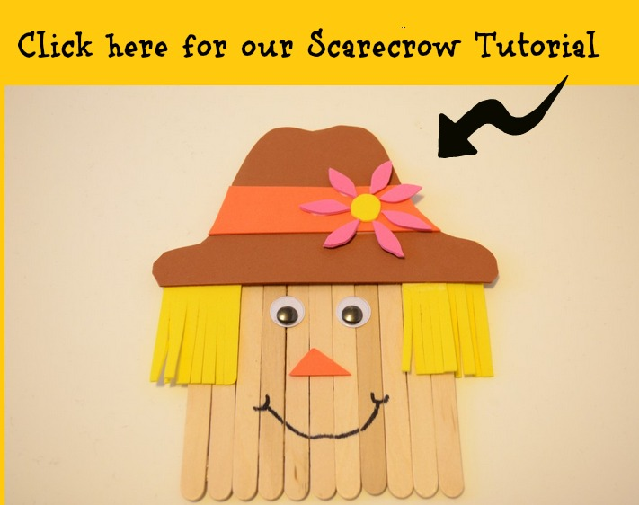 scarecrow Craft Sticks tutorial
