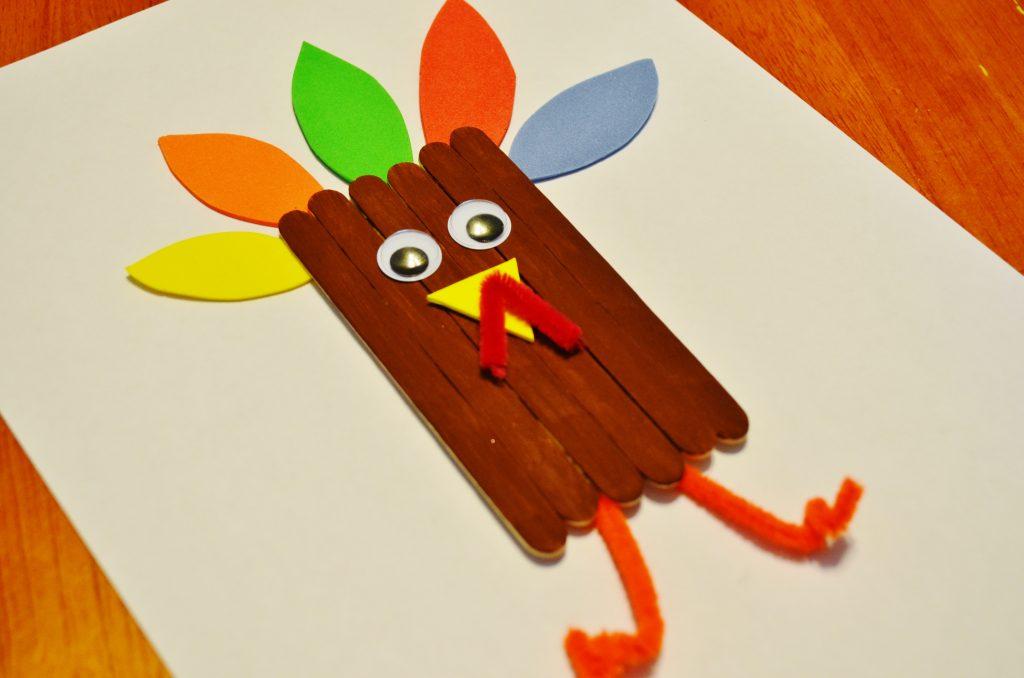 Thanksgiving Turkey Craft Sticks for Kids
