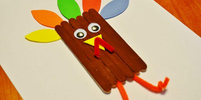 Thanksgiving Turkey Craft Sticks Craft for Kids