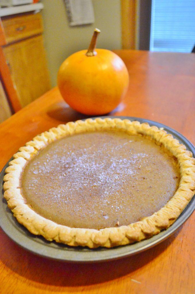 pumpkin pie from scratch recipe