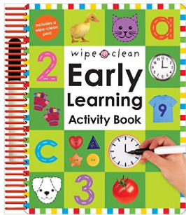 Early Learning Activity Book Wipe Clean